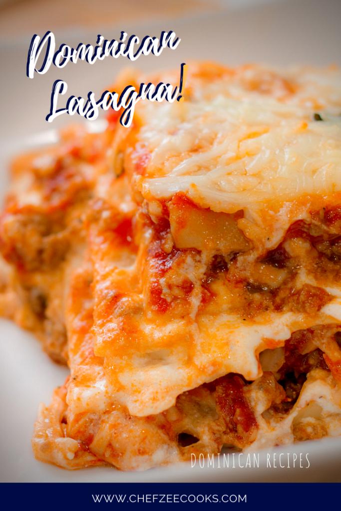 Dominican Lasagna Lasana De Carne Molida Chef Zee Cooks