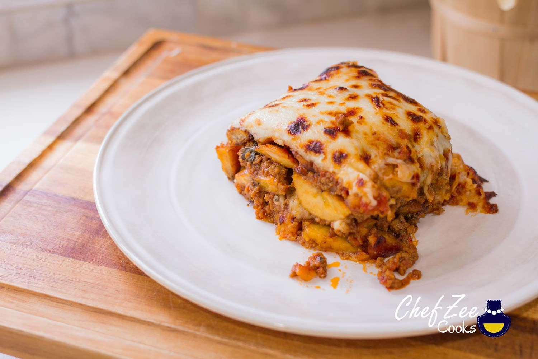 Pastelon De Platano Maduros Sweet Plantain Lasagna Chef Zee Cooks