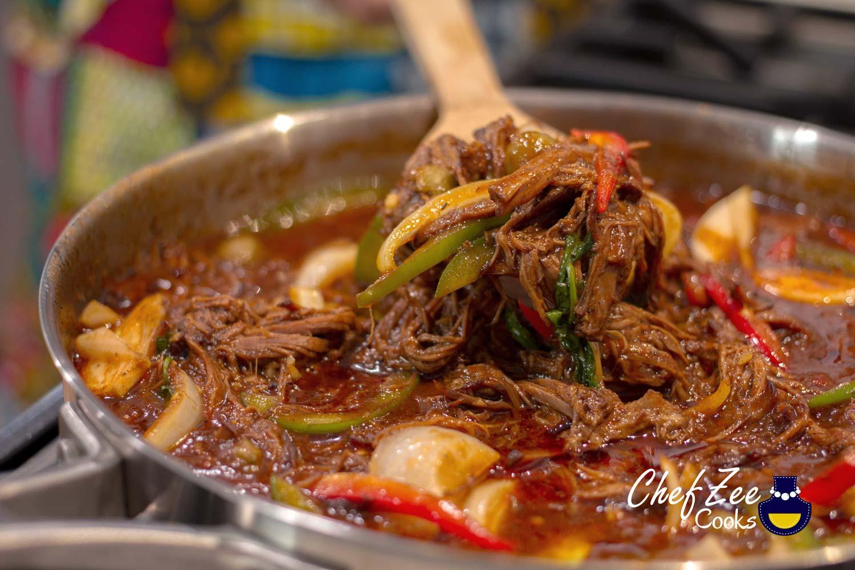 Ropa Vieja Shredded Beef Brisket Chef Zee Cooks